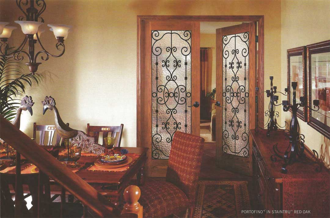 Replace Solid Door In Dining Room With French Glass For More