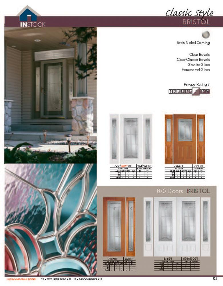 Bhi Exterior Door Catalog