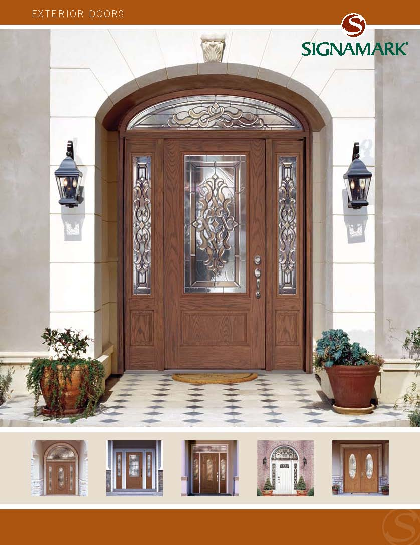 Signamark exterior door catalog for Residential entry doors
