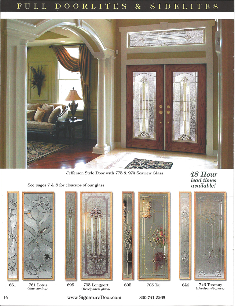Catalogs for Residential entry doors